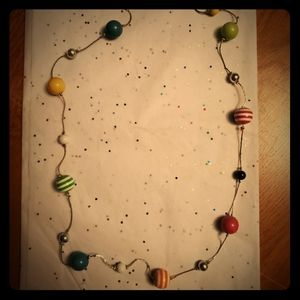 Multi colored ball necklace